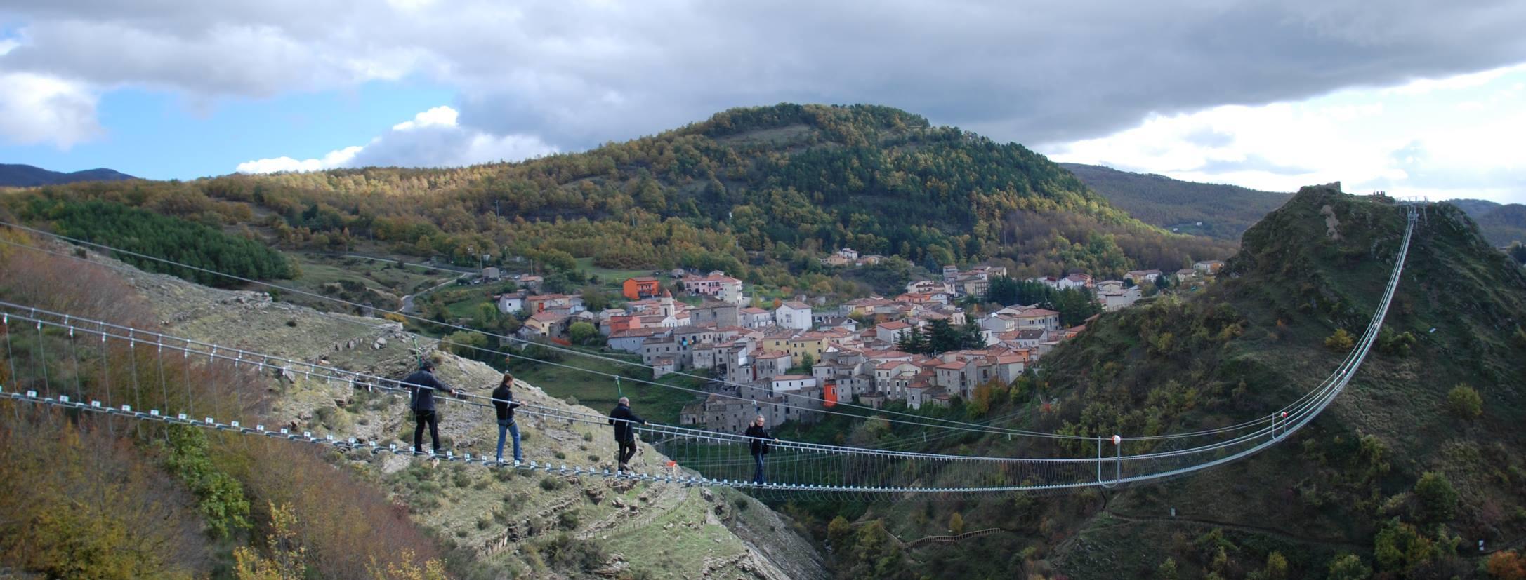 ponte tibetano sasso di castalda